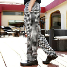 Free Shipping 2015 Fashion Cook Pants Hot Sale Work Wear Checkedout Brand Chef Pants Cheapest Chef Trousers Uniforms Men Women