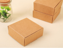 Retro Mini Kraft Paper Box,DIY Wedding Gift Favor Boxes for candy ,handmade soap packaging box(China)