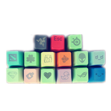 Mechanical keyboard personality Metal keyboard keys and DOTA cynosa  cherry mx keycaps or PBT keycaops