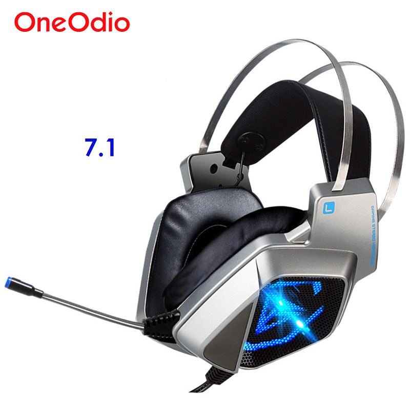 Hifi Wired Gaming Headsets 7.1 USB Led Headphones Gamer Headset 7.1 Surround Sound PC Earphone With Microphone Noise Cancelling<br>