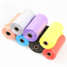 200pcs = 10Rolls Biodegradable Poop Bag Dog Waste Pick Up Clean Bags Coreless Mix Candy Color(China)