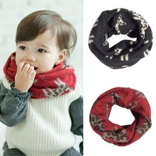 Toddler Baby Boys Girls Cat Pattern Imitation Cashmere Scarf Warm Neckerchief(China)