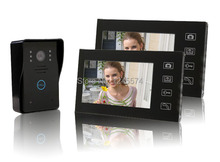 "2.4G 7"" TFT LCD Monitor Wireless Video Intercom Doorbell Home Security Monitor"