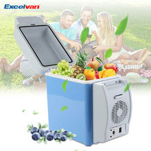 Portable 12V 7.5L Auto Car Mini Fridge Travel Keep Food Warm Refrigerator Quality ABS Multi-Function Home Cooler Freezer Warmer