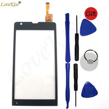 Front Panel Digitizer For Sony Xperia SP M35 M35h M35i C5302 C5303 Touch Screen Sensor LCD Display Outer Glass Lens Replacement