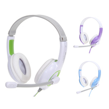 Lovely Earphone LPS-1513 Gaming Game Skype Headset Stereo Headphone Earphone with Microphone for PC Computer Laptop Mobile Phone