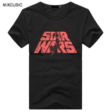 MIXCUBIC hot sale 2016 spring summer Unique Star Wars printed short-sleeve T shirts men O-neck printed slim T-shirts for men T96(China)