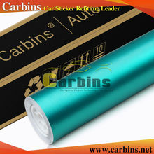 Carbins Film new color! Tiffany blue matte metal aluminium brushed chrome vinyl wrap for cars full body decal 1.52*20M