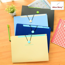 Simple plastic 5 section index band folder document file storage organizer filling stationery A4 size Expanding wallet 4 colors