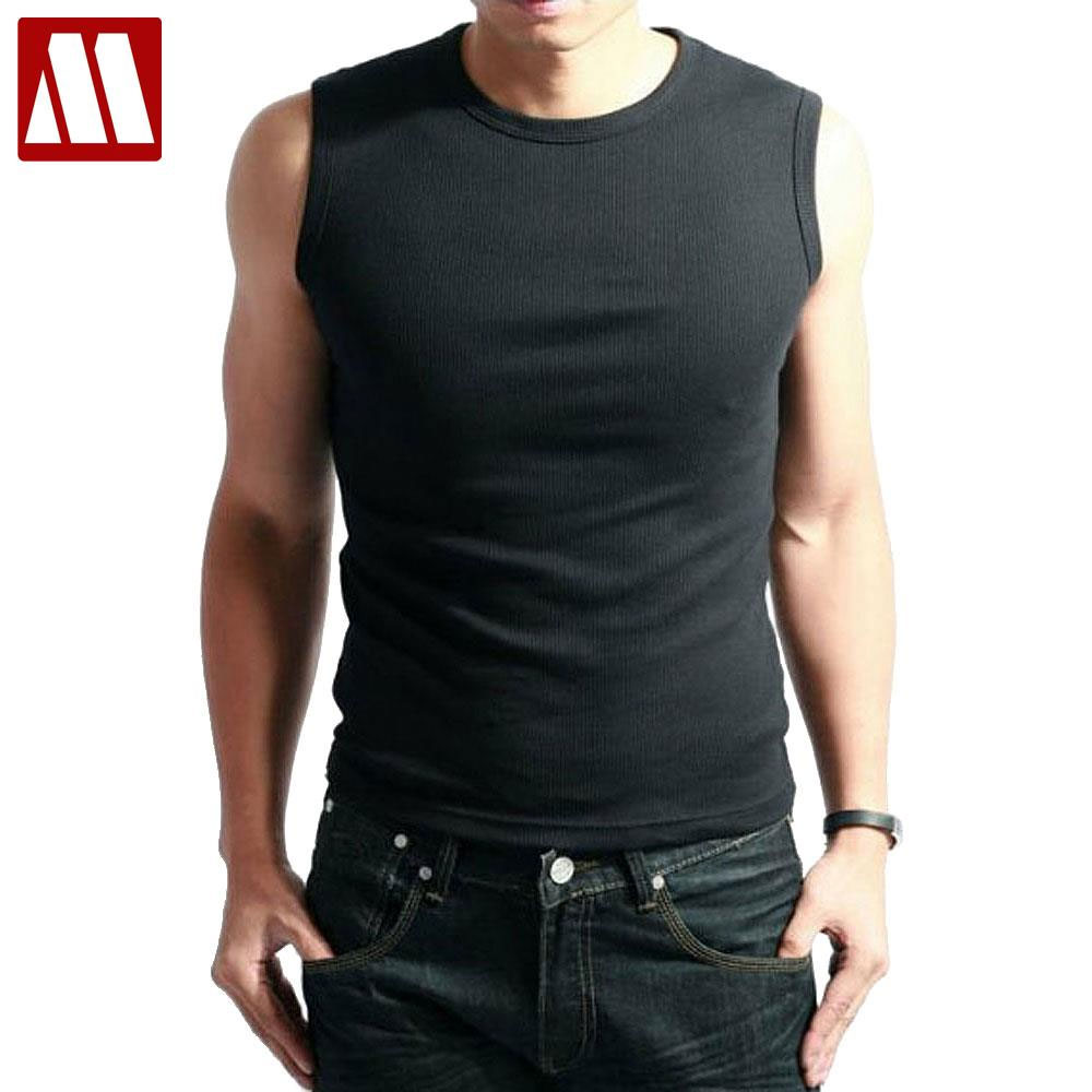Fieer Mens Summer Slim Fit Comfort Solid Cotton Sleeveless Tank Top Vest