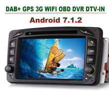 2 Din 4-Core Android 7.1.2 DVD Sat Nav Car GPS Navigat for Mercedes Benz C-Class CLK C209 W209 Viano Vito W639 G-Class W463 3G(China)