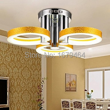LED Acrylic Chandelier with 3 lights (Gold) - 90-240V 54W  Free Shipping<br><br>Aliexpress