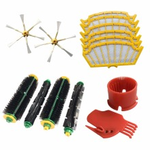 Filters, brushes, cleaning tool replacement kit for iRobot Roomba 500 Series 500 527 528 530 532 535 540 555 560 562 570 572 581(China)