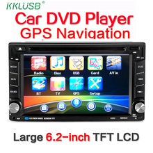 New 6.2 inch Touch Screen 2 DIN Stereo Car audio auto Radio MP5 Wince GPS Navigation car DVD player Bluetooth USB FM sd camera(China)