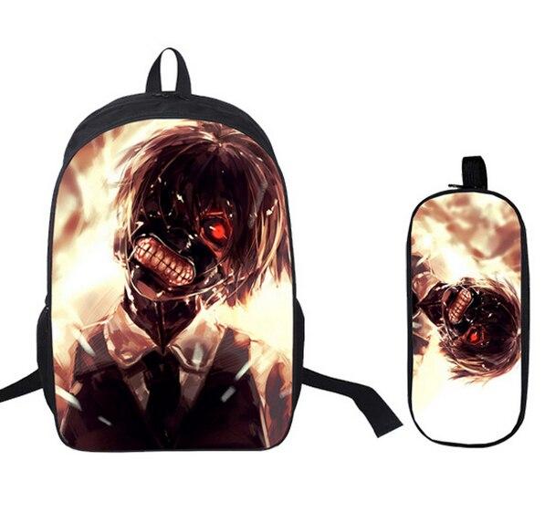 16 Inch Kids Backpack Tokyo Ghoul School Bags Satchel 3D Cartoon Orthopedic Children  School Bags For Boys Mochila Gift-in School Bags from Luggage   Bags on ... 3012f369b5