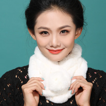 2017 autumn winter snow decoration diy scarf pendants Real Rex Rabbit Fur neck warmer scarf Woman Winter Scarves fashion ball