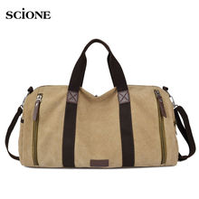 Canvas Sport Bag Training Gym Bag Men Woman Fitness Bags Durable Duffel Handbag Outdoor Sports Tote For Male Bolso Deport XA63WA