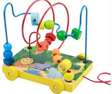 Children Around bead educational intellectual toys Tractors type