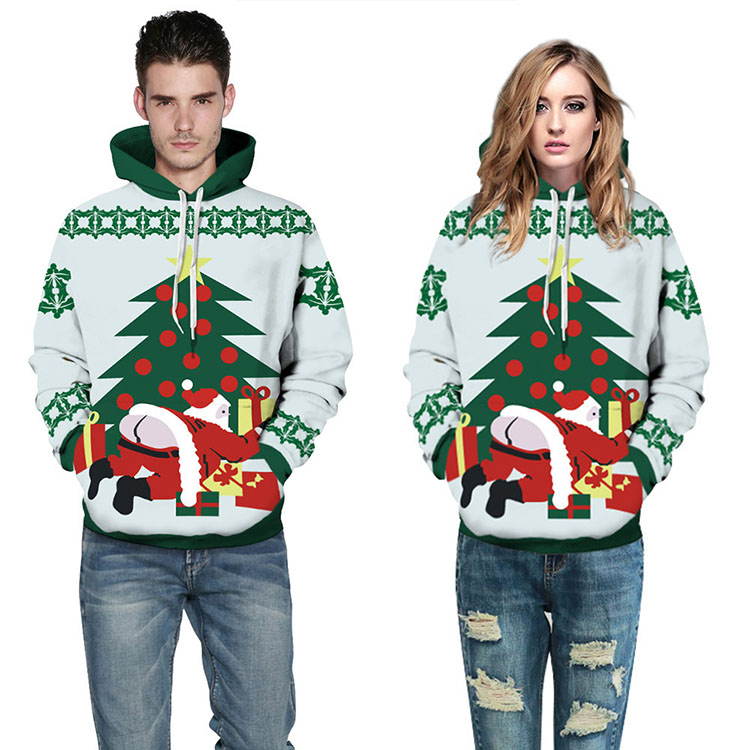 Aolamegs Men Women Chirstmas series Hoodies Couples Hooded Sweatshirts Funny 3D printing Pullovers Christmas Casual Tops Clothes (5)