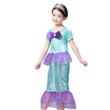 2017 Baby Kids Girls Princess Ariel Little Mermaid Costume Fancy Dress Up 3-10Y(China)