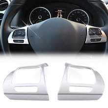For Volkswagen VW GOLF 6 Golf  Jetta MK6 Lavida Tiguan Touran PASSAT B6 B7L CC Steering Wheel sticker ABS Chrome