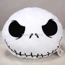 New Arrival Hot Sell The Nightmare Before Christmas Jack Round White Big Eyes plush Pillow Stuffed Cushion Soft(China)