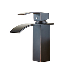 FLG High Quality Brass Faucet Mixer Black Tap Changing Waterfall Faucet Sink Vessel Oil Rubbed Bronze Bathroom Faucet(China)