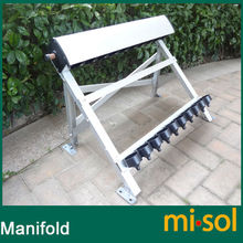 manifold (10 holes) with bracket for solar collector (tube 58*500mm), for solar water heater(China)