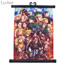 Lychee Japanese Anime Attack on Titan Classcial Canvas Scroll Painting Living Room Home Wall Print Modern Art Decor Poster(China)