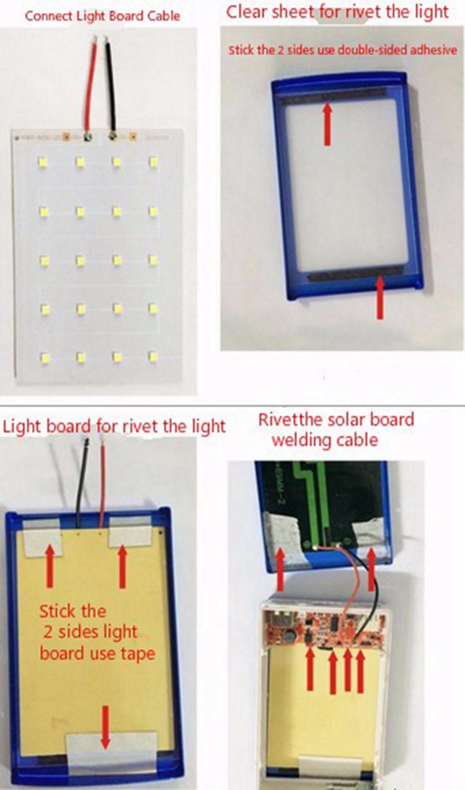 Icoque 18650 Solar Power Bank Case DIY Box Dual USB Kit Phone Charger Flashlight 5x18650 Powerbank Portable Pover Power Bank (16)