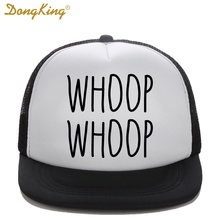 DongKing Kids Trucker Hat WHOOP WHOOP Printed Son Daughter Child Baby Trucker Funny Top Quality Baseball Snapback Summer Gift(China)