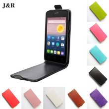 Luxury PU Leather Case For Alcatel Pixi First 4024D Case Flip Phone Case Cover For Alcatel One Touch Pixi First 4024D capas