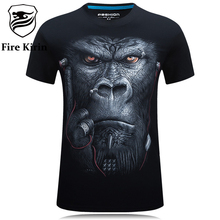 3D T Shirt Men Hip Hop T-shirt 5XL 6XL Plus Size Mens Funny T Shirts Luxury Brand Camiseta Animals Print Tee Shirt Homme T387