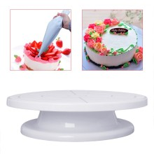 "11"" Rotating Revolving Cake Plate Decorating Turntable Kitchen Display Stand Practical(China)"
