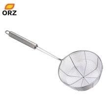 ORZ 2 piezas aceite fino alambre malla de harina Sifter tamiz colador cocina  fideos de acero inoxidable verduras drenaje colador 39c755373b99
