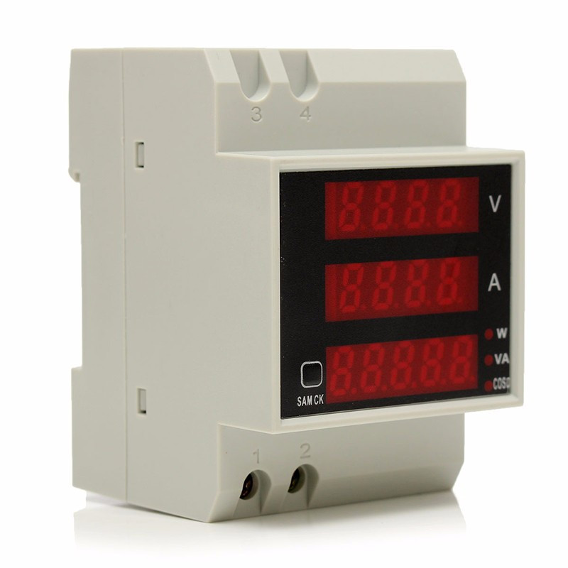 New D52-2048 AC 80-300V Multi-Functional LED Display Digital Meter Voltmeter Ammeter Test instrument(China)