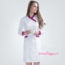 2017 Korea Style Women's Full Sleeve Hospital Nurse Dress Medical Scrub Clothes Sets Beauty Salaon Clinic Doctors Overalls(China)