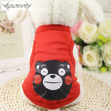 Fashion Cartoon Small Dog Clothing 11 Color Summer Cute Totoro Puppy Dog Vest Teddy Dog  Clothes Pet Shirt Clothing for Dogs