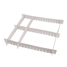 6pcs/set White Plastic DIY Grid Drawer Divider For Box Household Necessities Storage Organizer Classify Subarea Organizer