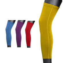 PROMOTION!Antislip Sport Basketball Cycling Stretch Leg Protector Calf Knee Long Sleeve - yellow