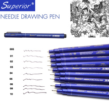 Superior 9pcs/Lot Different Types Pigment Fine Liner Micron Pigma Water Based Sketch Markers Graffiti Pen Stationery Supplies