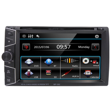 "GPS Navigation 6.2"" 2 Din Car DVD Player Stereo Media Player Support Radio FM AM RDS BT iPod Game DVD USB SD AUXIN SWC VCMD(China)"