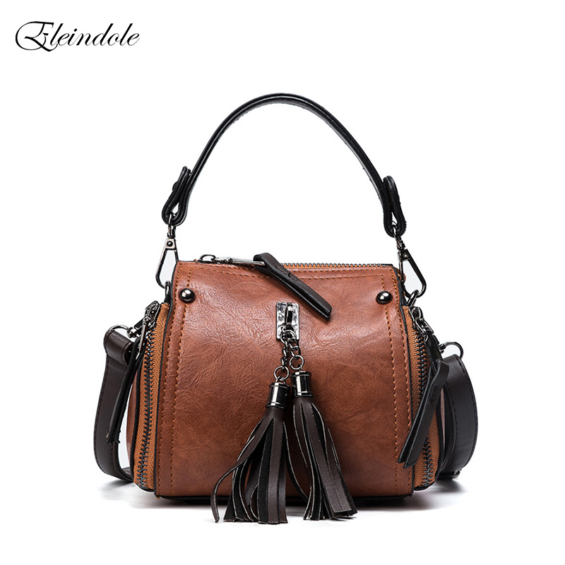 Eleindole 2017 Winter Fashion Women Shoulder Bags Vintage Design Leisure Female Bucket Handbags Casual Panelled Ladies Handbag<br>