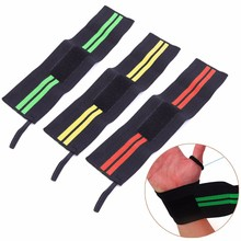 Weight Lifting Gym Sports Wristband Thumb Support Wrist Wraps Hand Bands Straps W15