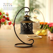 Fashion bird cage wrought iron hanging cutout mousse