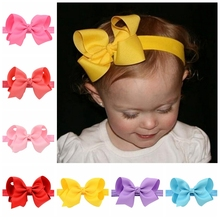 20pcs/lot Girls Headband Head Wraps Elastic Bands Grosgrain Ribbon Bows Tiara Headbands Hair Accessories 608