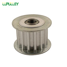 LUPULLEY 15 Teeth 5M Idler Pulley Passive Pulley Bore 3/4/5/6/7/8/9mm Width 16/21mm Tension Belt Idler Pulley With Bearing 1PC(China)