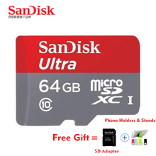 SanDisk UItra 128GB micro SD Card 64GB 16GB class 10 memory card 80MB/S micro sd 32GB microsdHC UHS-I tf card plus SD adapter