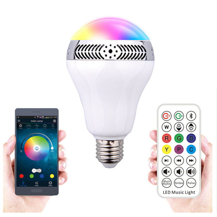 Smart phone control LED music bulb LED Bluetooth stereo lamp LED Bluetooth bulb 10W<br>
