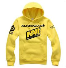 New Free Shipping Casual Natus Vincere NAVI Cosplay Top Grade Yellow Hoodie Coat